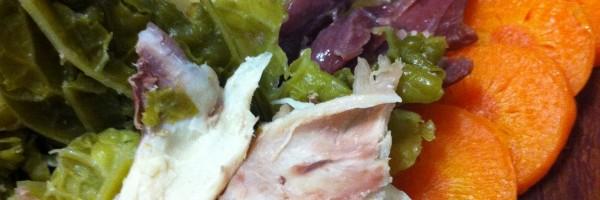 Bulgur con verduras, pollo y jamón